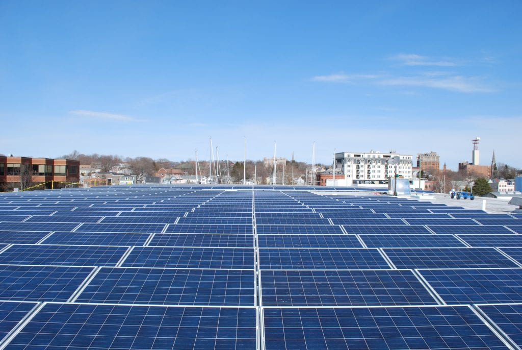 New London, CT - 518 panel, 145kw - Sun-Wind Solutions