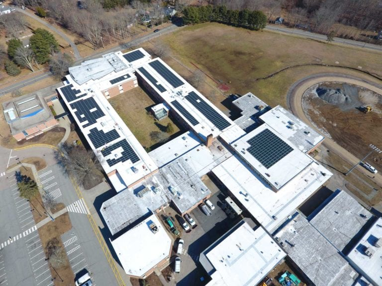 Ledyard  high school (864 panels)  Installer Sun Wind Solutions / Developer Green Skies renewables