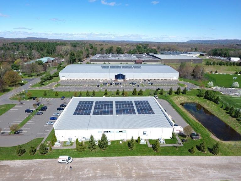 Malibu fitness Farmington Ct. 396 panels/ Installer Sun Wind Solutions / Developer 64 solar