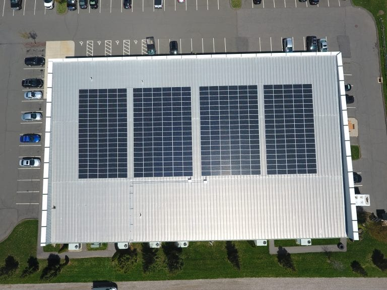 Malibu fitness Farmington Ct. 396 panels/ Installer Sun Wind Solutions / Developer 64 solar